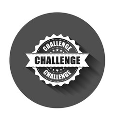challenge grunge rubber stamp with long shadow vector image