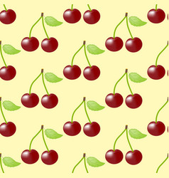 cherry fruit seamless pattern vector image