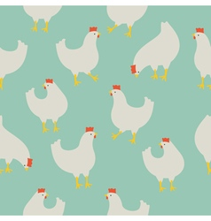 Chicken pattern blue vector
