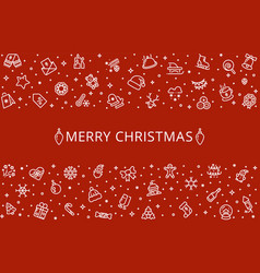 christmas background holiday banner vector image