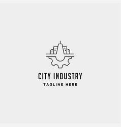 City gear logo industrial symbol design vector