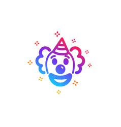 Clown icon amusement park funnyman sign vector