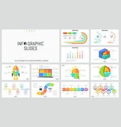 collection of minimalist infographic design vector image