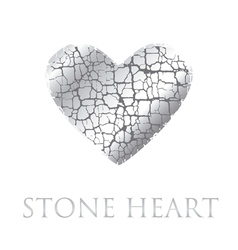 concept abstract broken heart modern style stone vector image