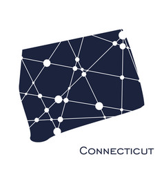 connecticut state map vector image