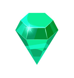 diamond sparkling shining green color isolated on vector image