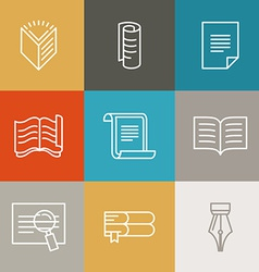 Document and paper signs and icons vector