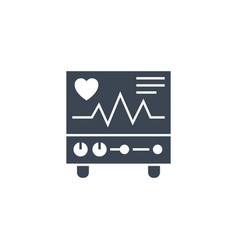 Electrocardiogram related glyph icon vector