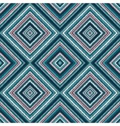 Ethnic rhombus blue tribal seamless pattern vector