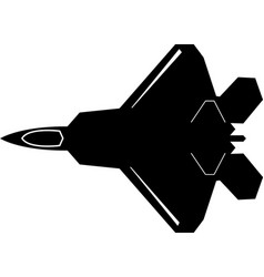 F22 raptor aircraft fighter jet military jet eps vector