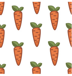 farm food carrot seamless pattern root vegetable vector image