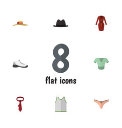 flat icon clothes set of lingerie sneakers vector image