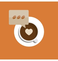 flat modern coffee background Eps 10 vector image