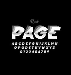 Flip page style modern font alphabet letters vector