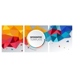Flyer template header design Banner vector image