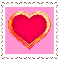 Gold Heart Stamp vector image