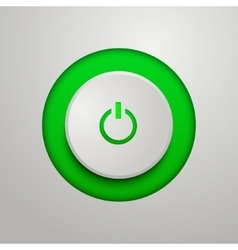 Green power button vector