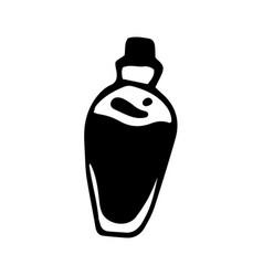 Hand drawn doodle bottle blood vector