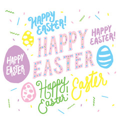 happy easter lettering overlay graphics vector image