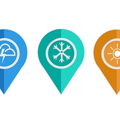 Health icon of round 3D map pointers vector