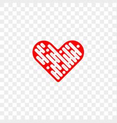 heart logo abstract app modern icon vector image