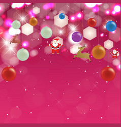 Holiday background with christmas toys vector