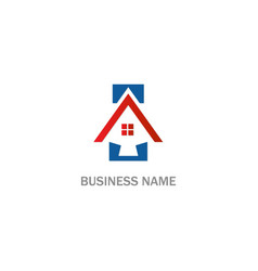 home realty business company logo vector image