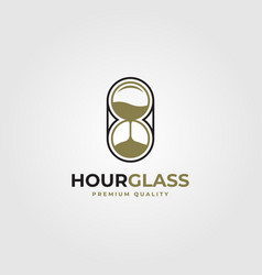 Hourglass logo line art minimalist design vector