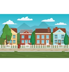 House buildings street home background Houses and vector