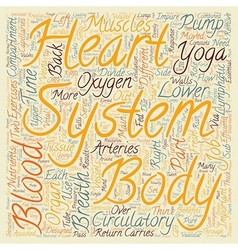 How Yoga benefits the circulatory system text vector