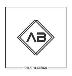 Initial letter ab logo template vector