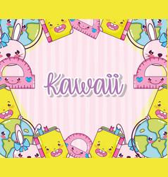 kawaii cute cartoons vector image