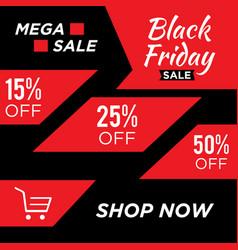 letter black friday sale banner design template vector image