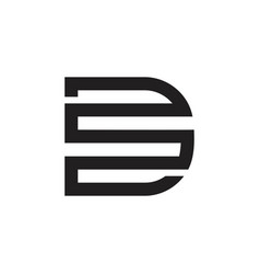 Letter sd simple geometric linesymbol logo vector