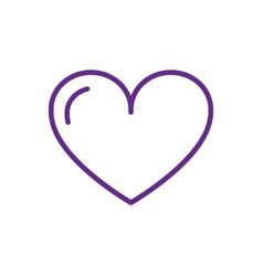 love heart charity help donation vector image