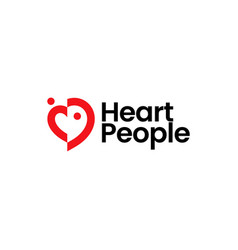 Love heart people family human care logo icon vector