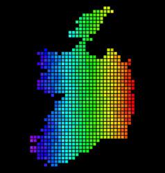 luminous abstract ireland republic map vector image