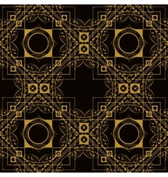 Luxury vintage seamless retro monogram vector image