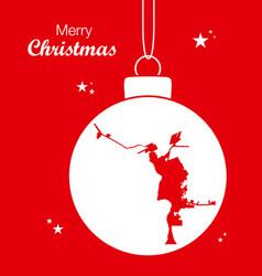 merry christmas theme with map of laredo texas vector image
