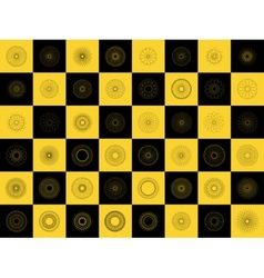 modern black and yellow geometric shape vector image