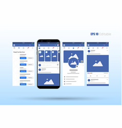 modern set social network photo post frames vector image