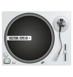 modern white turntable vector image