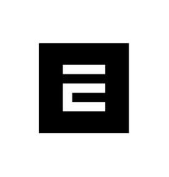 Monochrome e letter logo digital e logo e vector