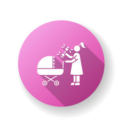 newborn experience pink flat design long shadow vector image