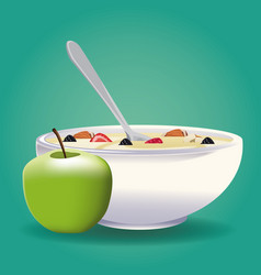 oatmeal healthy food vector image