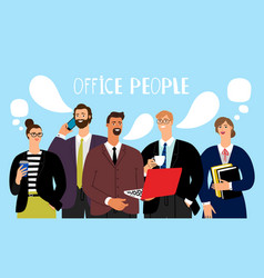 office people talking vector image