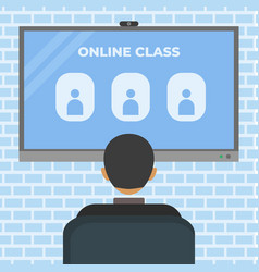 online class video conference stay at home vector image