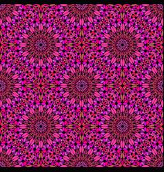Oriental geometrical deep pink kaleidoscope vector