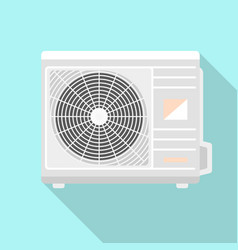 outdoor conditioner fan icon flat style vector image