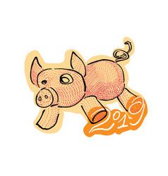 Pig year 2019 vector